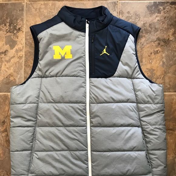 sports shoes 7e2ab d8f5e University of Michigan Nike Air Jordan Vest.